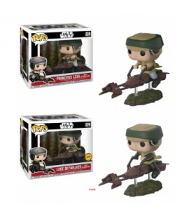 CAJA POP STAR WARS LEIA ON SPEEDER BIKE CHASE (2+1)