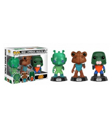 FIGURA POP PACK STAR WARS: GREEDO,HAMMERHEAD & WALRUS