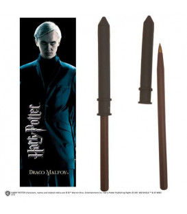 BOLIGRAFO Y MARCAPAGINAS HARRY POTTER DRACO