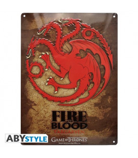 PLACA METAL TARGARYEN