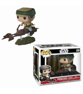 FIGURA POP STAR WARS: LEIA ON SPEEDER BIKE