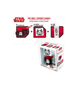 PACK STAR WARS TROOPER POSAVASOS + TAZAS