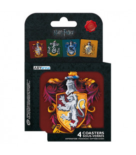 SET POSAVASOS EMBLEMAS CASAS HARRY POTTER